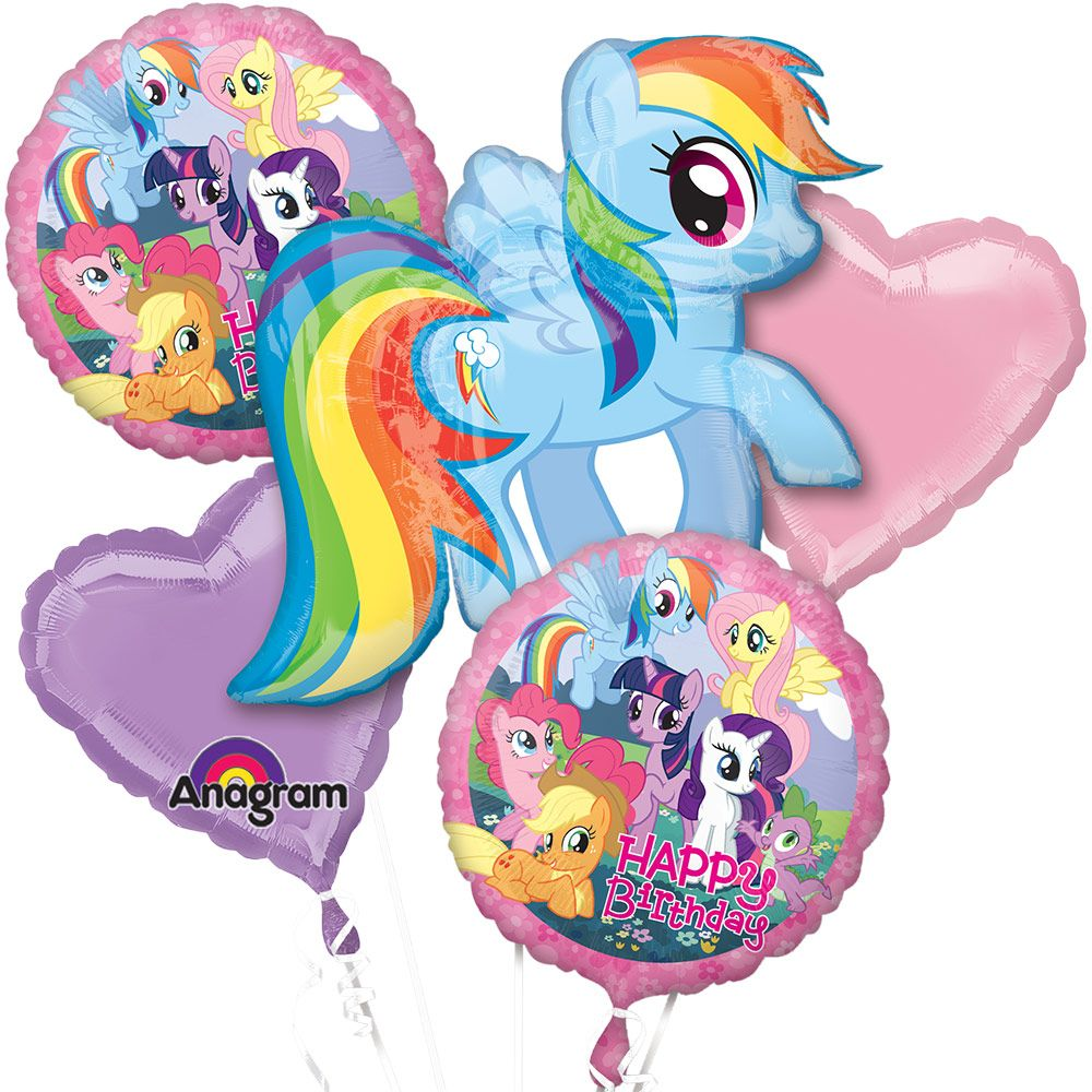 My Little Pony Balloon Bouquet (5 Pack)