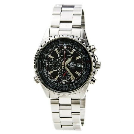 Casio Edifice Chronograph Alarm - Men's EF527D-1AV Edifice Stainless Steel Multi-Function Chronograph Watch