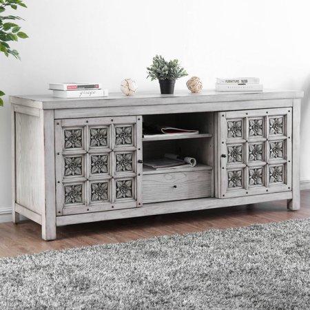 Furniture of America Martino Rosette Carved TV Stand ()