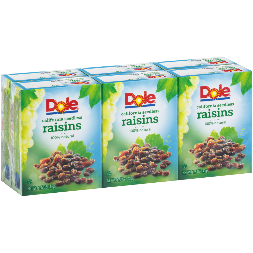 Dole California Seedless Raisins, 1.5 Oz