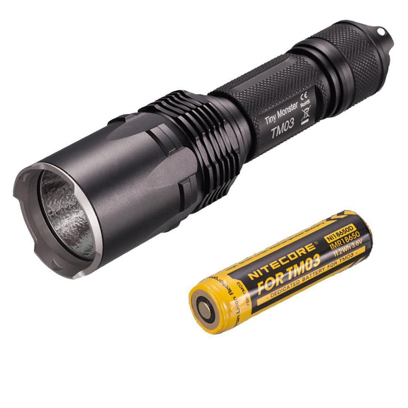 Nitecore TM03 Tiny Monster Flashlight CREE XHP70 LED 2800 Lumens, Black