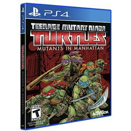 TMNT Mutants in Manhattan, Activision, PlayStation 4, (Ninja Tmnt Games)
