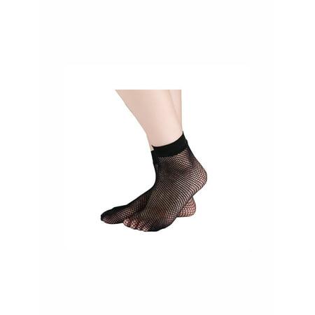 Unique Bargains Women's Ankle High Trendy Fishnet Flat Middle Net Short Socks 10 Pairs - Trendy Socks