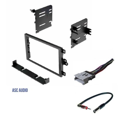 ASC Double Din Car Radio Dash kit, Wire Harness, and Antenna Adapter for Chevrolet: 03-05 Blazer/S10, 01-02 Express, 00-01 Metro, 98-04 Tracker; GMC :.., By ASC Audio