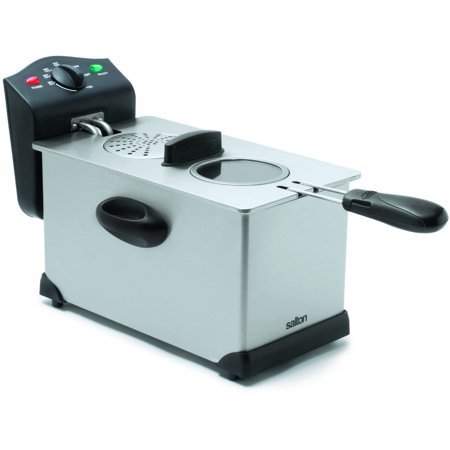 Salton Stainless Steel Deep Fryer, DF1233, Silver