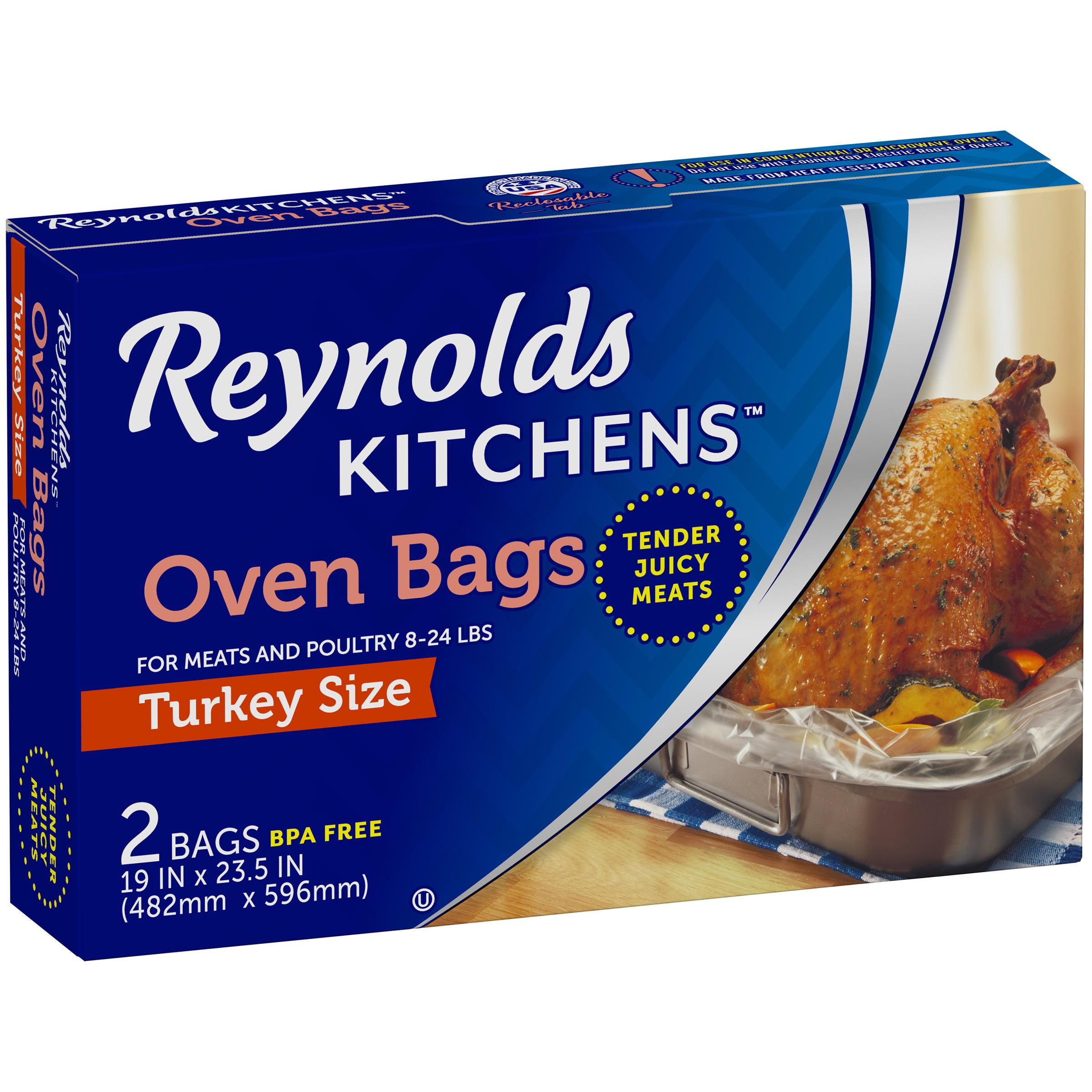 Reynolds Kitchens Turkey Size Oven Bags 2 Ct Box Walmart
