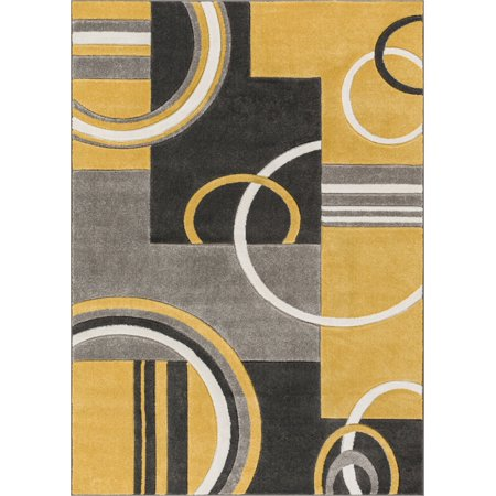 - Well Woven Ruby Galaxy Waves Modern Gold Area Rug