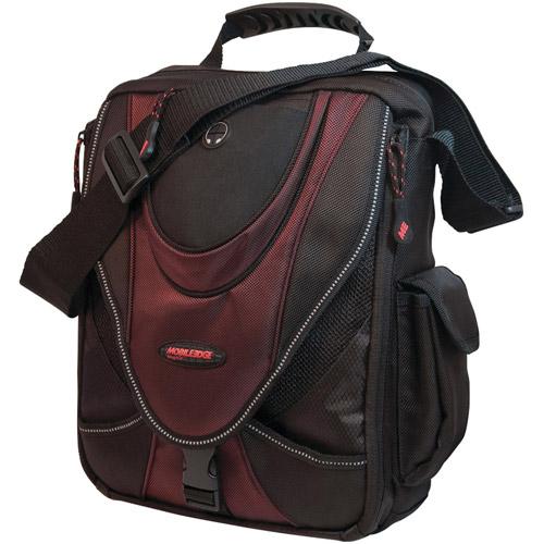 """Mobile Edge MEMMS7 Mini Messenger Bag for 13.3"""" Tablets, Black/Red"""
