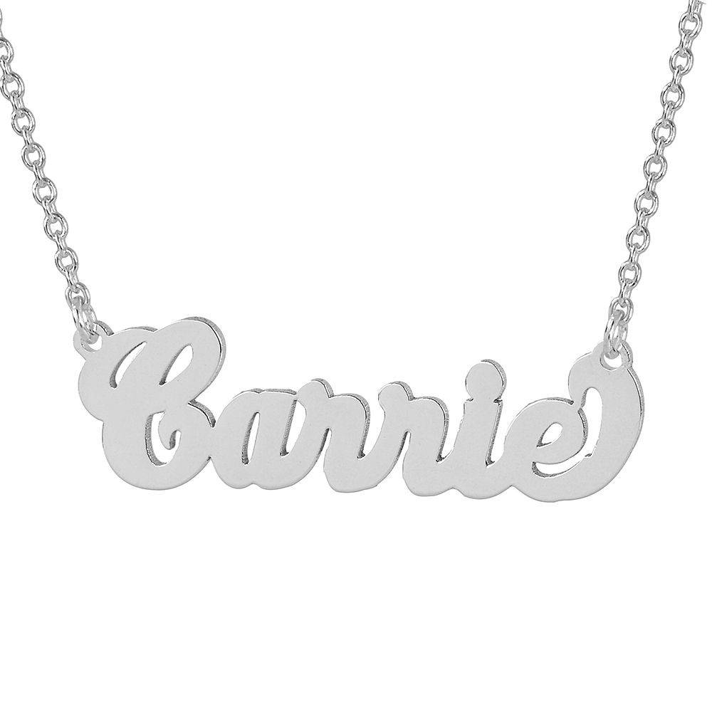 Sex and the City Carrie Style Silver choker Name Necklace SN03