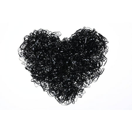 - 2000 PCS Black,Rubber Bands, Elastic Braiding Band, Hair Ties for Toddlers, Children, Girls