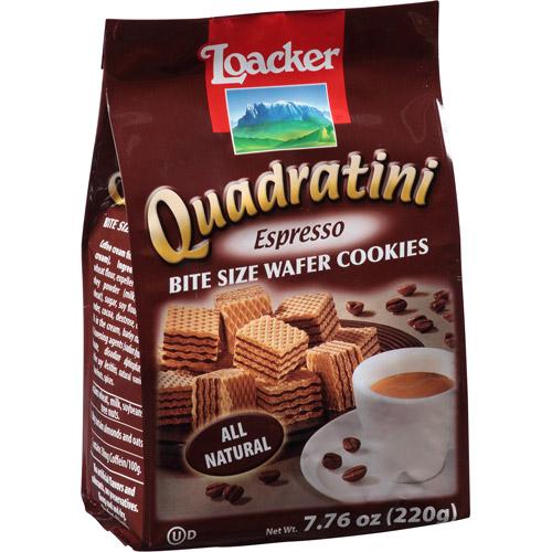 Loacker Quadratini Espresso Wafer Cookies, 7.76 oz, (Pack of 8)