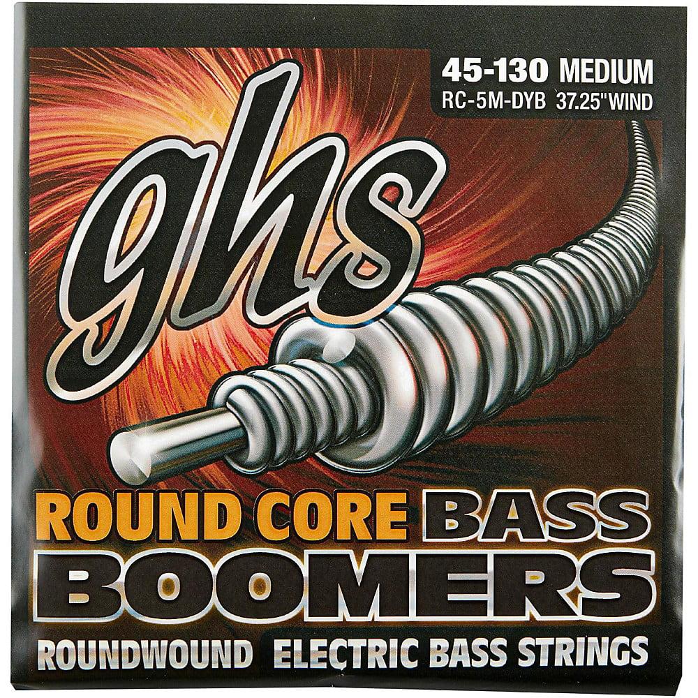 GHS RC-5M-DYB Round Core Bass Boomers Medium, 5 String, 45-130