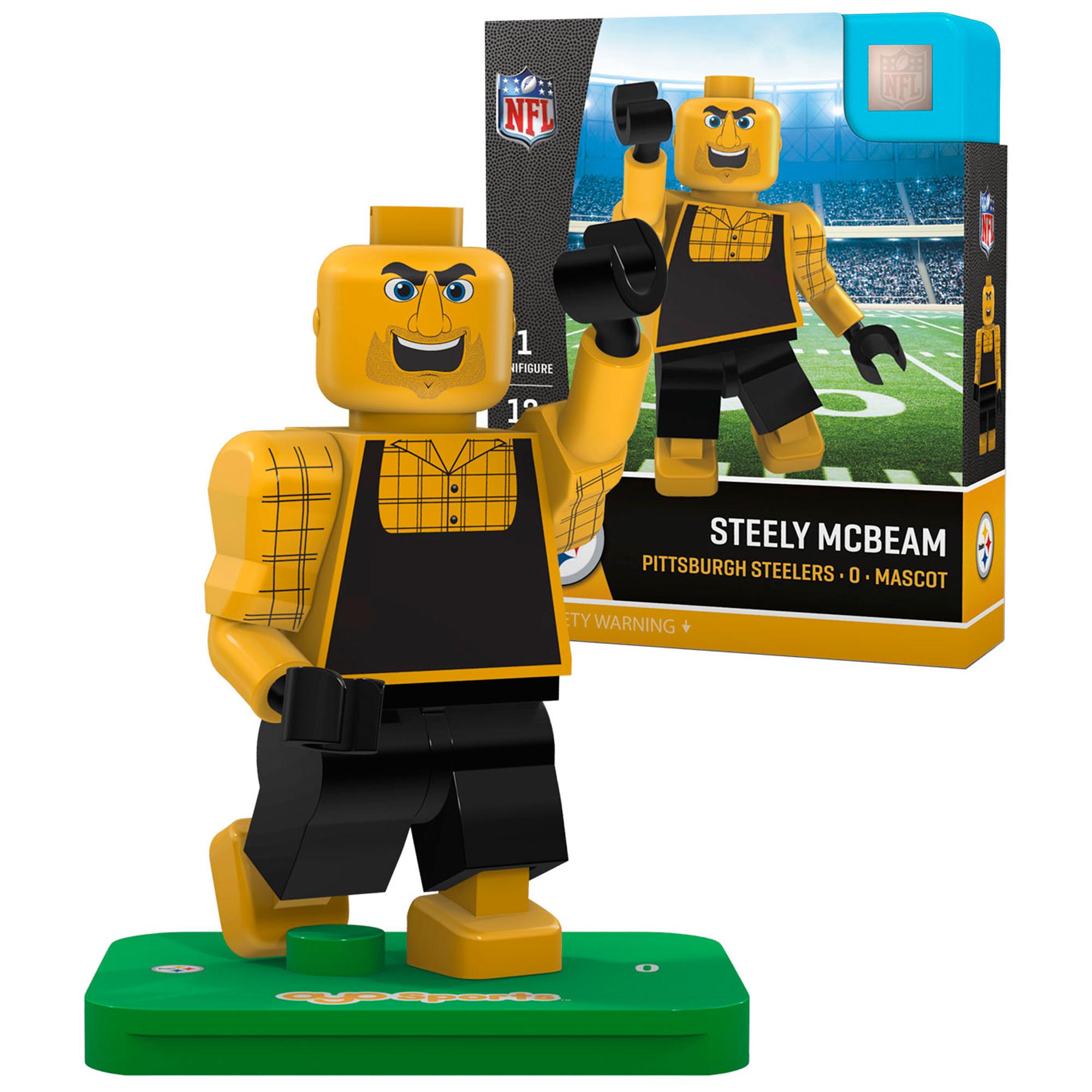 Steely McBeam Pittsburgh Steelers OYO Sports Generation 5 Mascot Minifigure - No Size