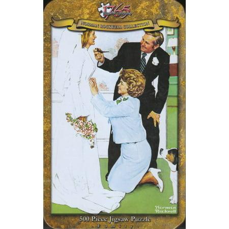 1765 Jigsaw - Norman Rockwell - Bride To - Norman Rockwell Halloween