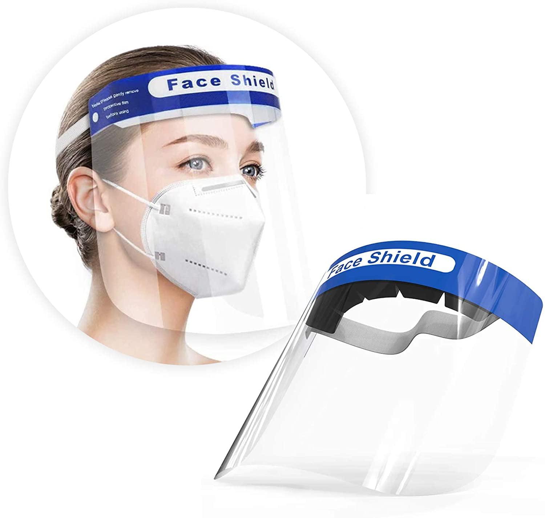 New Reusable Clear Adjustable Anti-Splash Full Face Protective Head Gear Shield