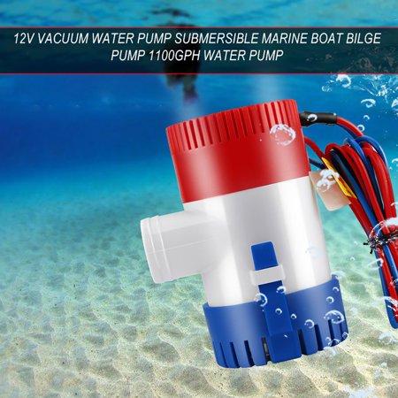 12V Vacuum Water Pump Submersible Marine Boat Bilge Pump 1100GPH Water Pump - image 5 de 5