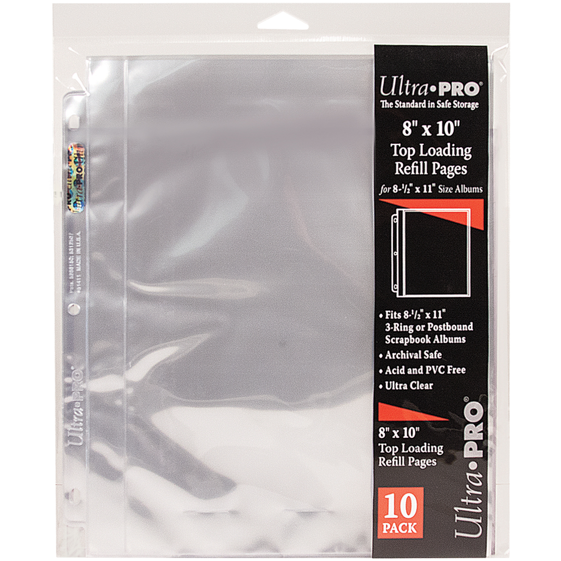 """Ultra Pro 8.5""""X11"""" Refill Pages 10/Pkg-For 8""""X10"""" Photos"""