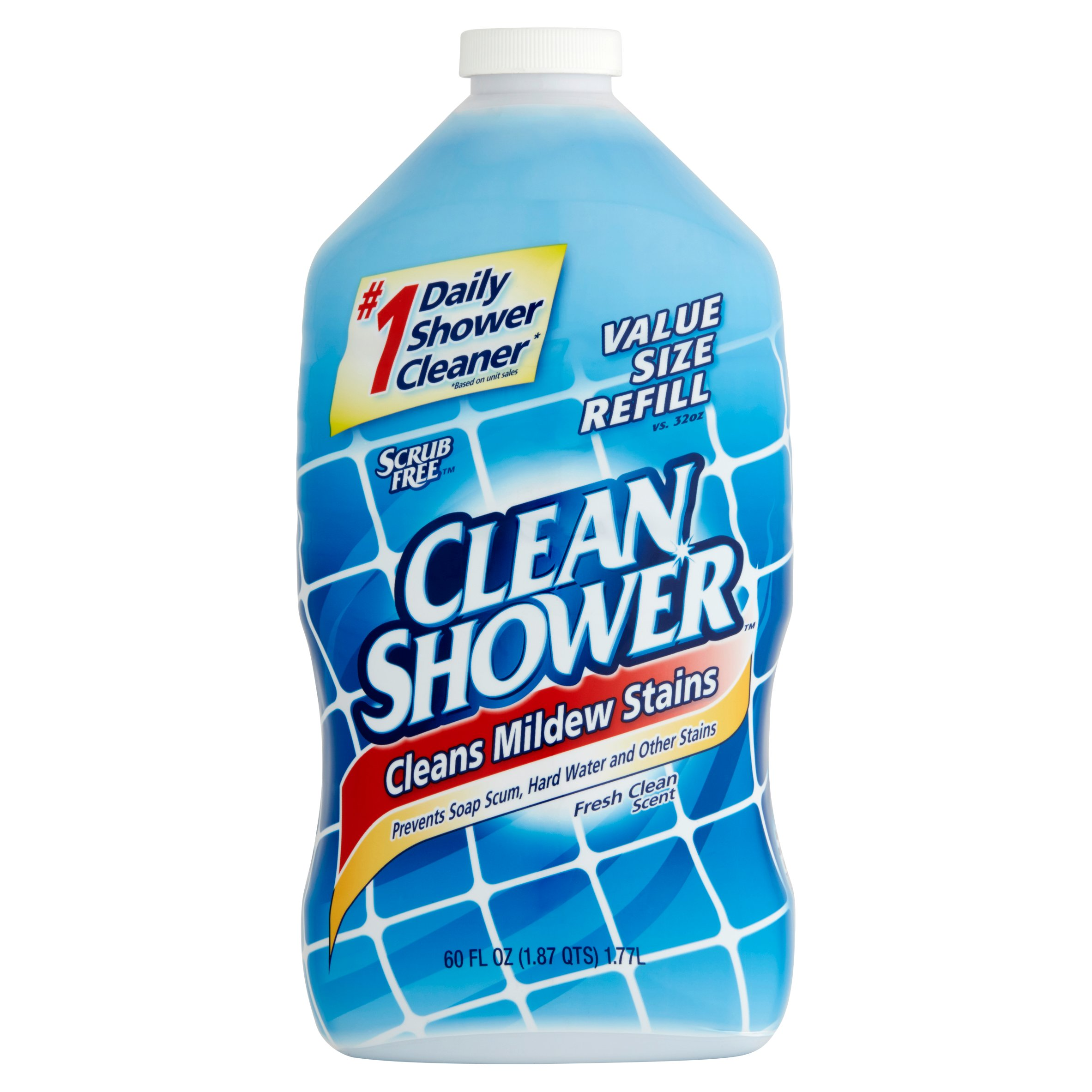 (2 pack) Clean Shower Daily Shower Cleaner Refill, 60 fl oz