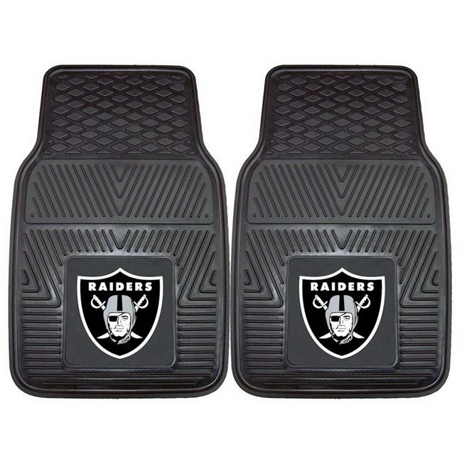 Oakland Raiders Car Mats Heavy Duty 2 Piece Vinyl