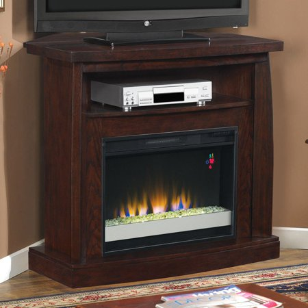 Prime Classic Flame Boomerang Media Wall Corner Electric Fireplace Dark Cherry Home Interior And Landscaping Oversignezvosmurscom