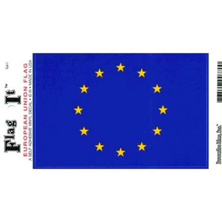 - European Union Flag Decal For Auto, Truck Or Boat - 3.25