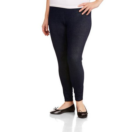 70a542fd93a292 Faded Glory - Women's Plus Size Essential Knit Legging - Walmart.com