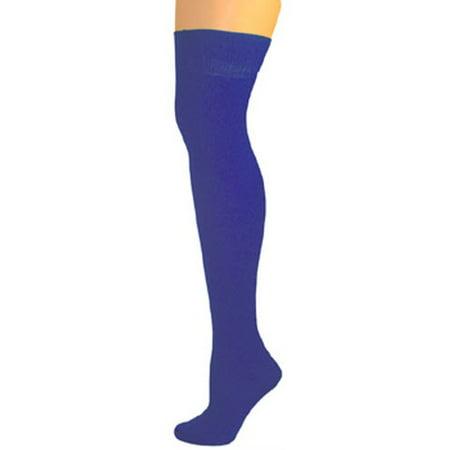 AJs Knee High Nylon Socks - Royal Blue