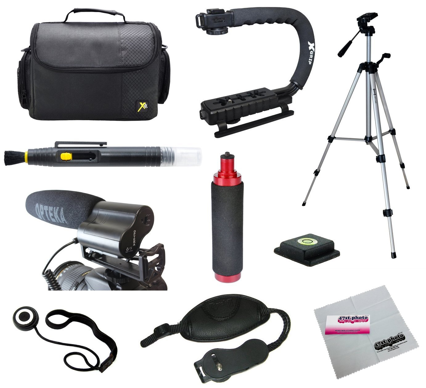 Opteka Videographers Deluxe Filming Kit with VM-100 Micro...