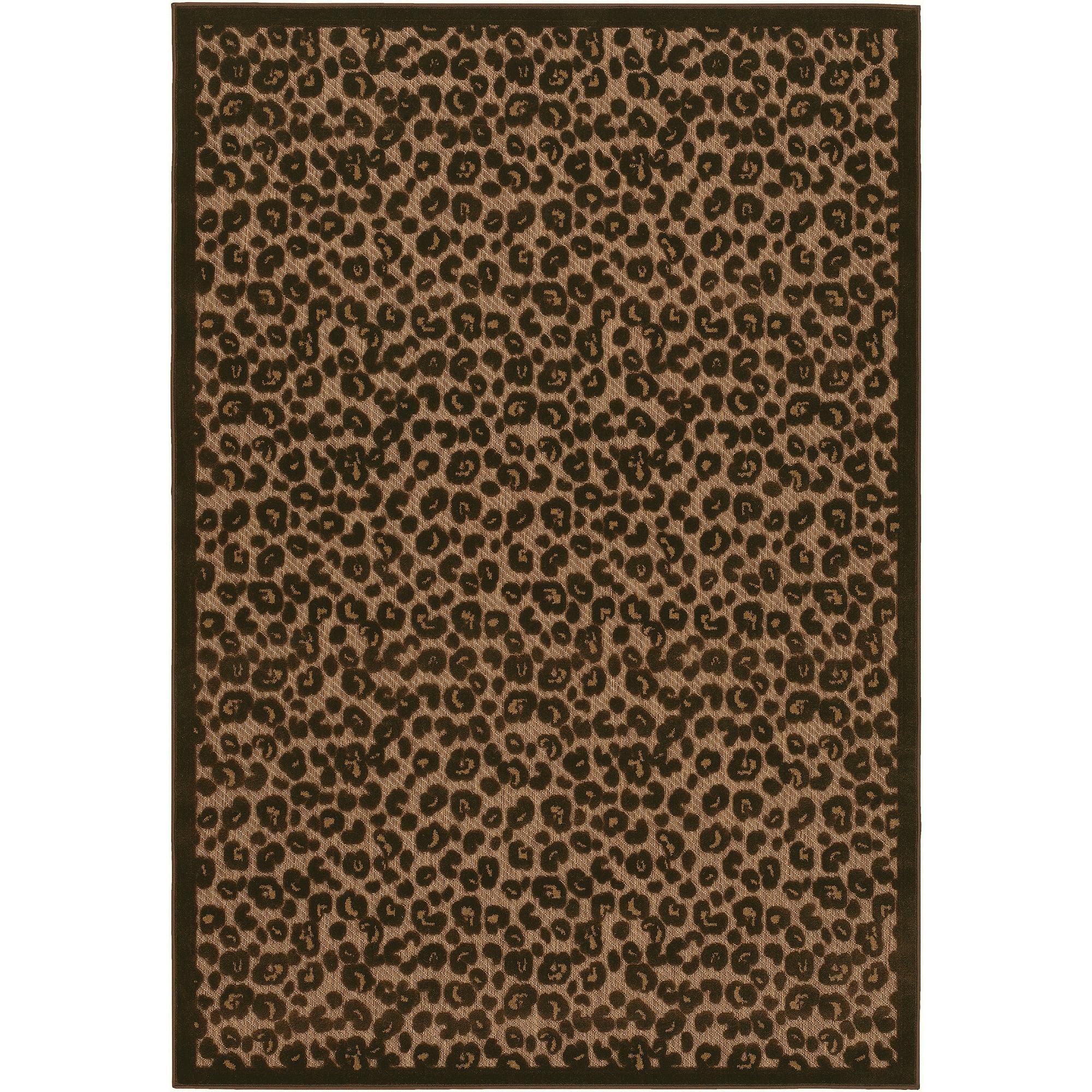 Leopard Print Indoor/Outdoor Rug