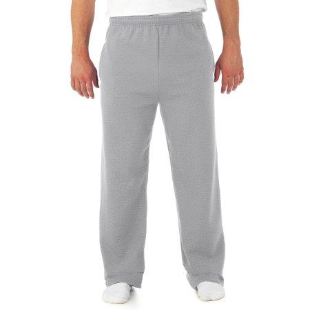 - Big Men's Soft Medium-Weight Fleece Open Bottom Sweatpants, with pockets