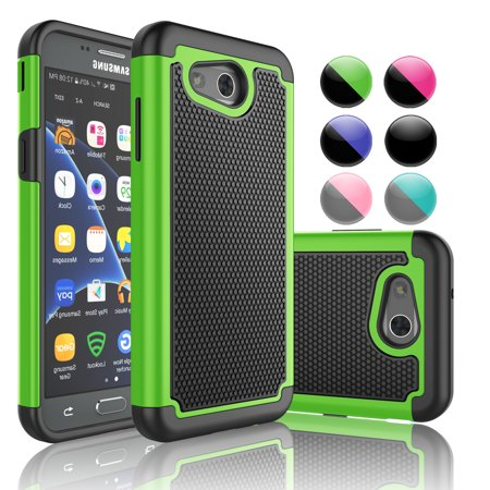 half off c4a0c 6038c Samsung J3 2017 Case,Galaxy Express Prime 2 Case,[Green] Njjex 2-Piece  Rugged Rubber Scratch Resistant Plastic Shockproof Case Cover For Samsung  ...