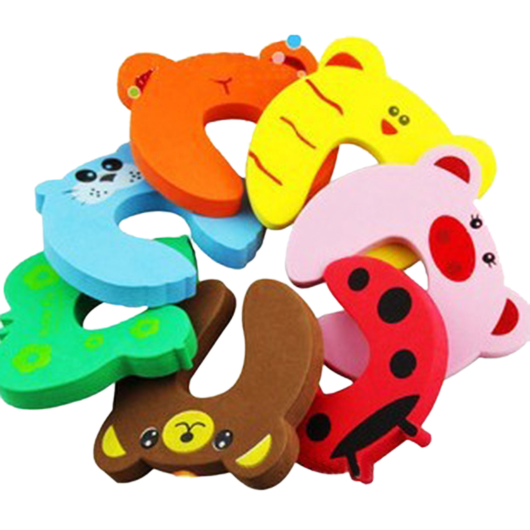 Creative Furniture, Outgeek 5PCS Cute Cartoon Animal Safety Finger Protection Clips Door Pinch Guard for Kids Child Baby