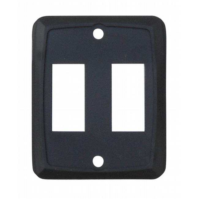 DIAMOND GRP P7215C Double Switch Plate Black - image 2 of 2