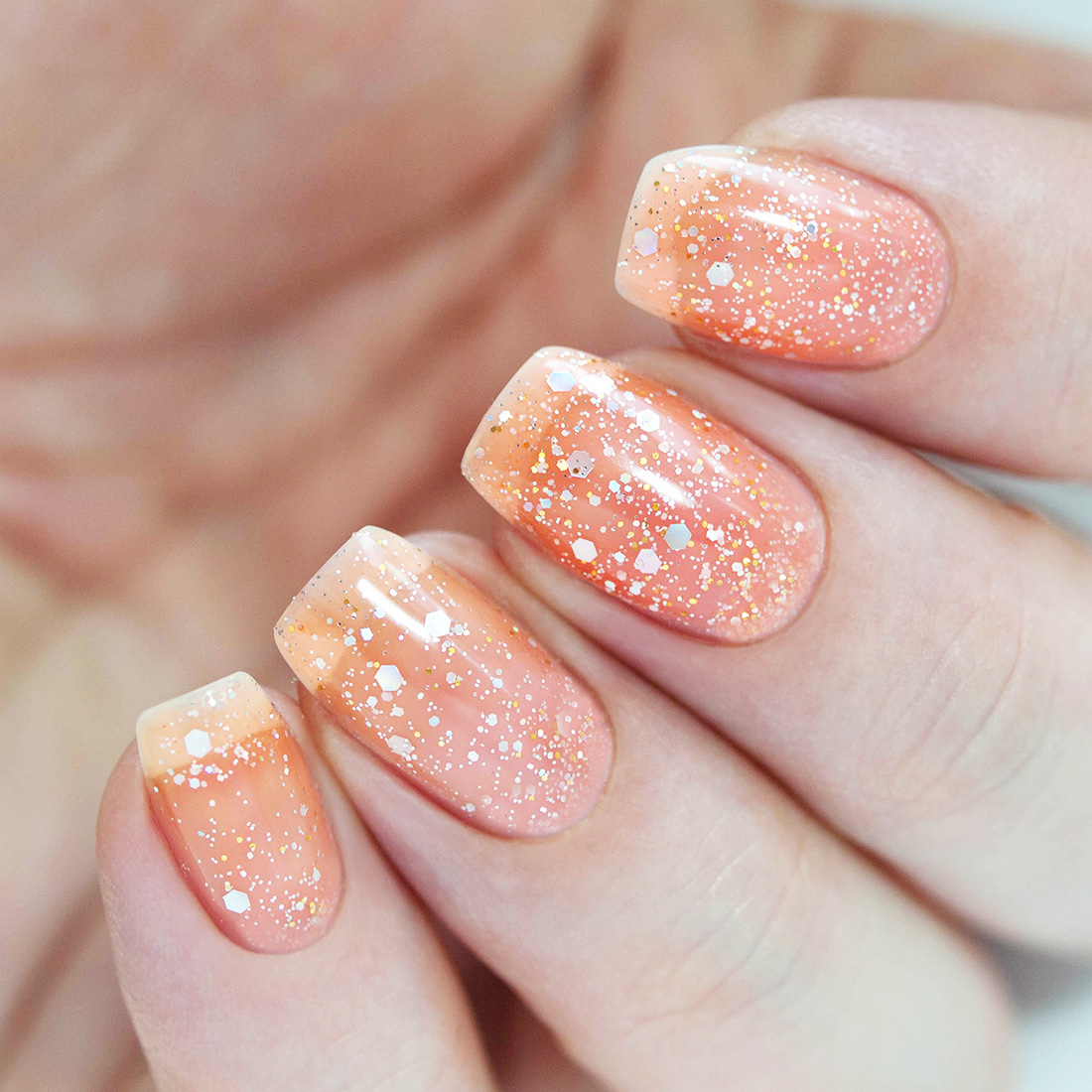 BMC Mix Size Hexagon Shaped Glitter Nail Lacquer Gel Polishes - Woodland Fantasy