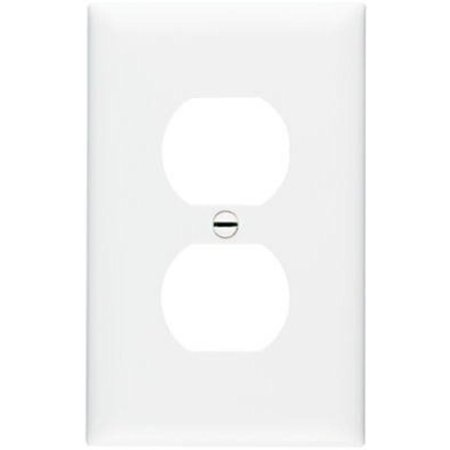 Nylon, White 1 Gang 1 Duplex Outlet Opening Wall Plate Pass and Seymour