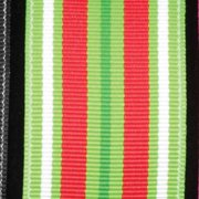"""Holiday Red, White and Green Grosgrain Wired Craft Ribbon 1.5"""" x 27 Yards"""