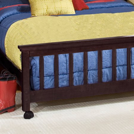 Hillsdale School House Twin Stair Loft With Chest End & Full Lower Bed, Chocolate