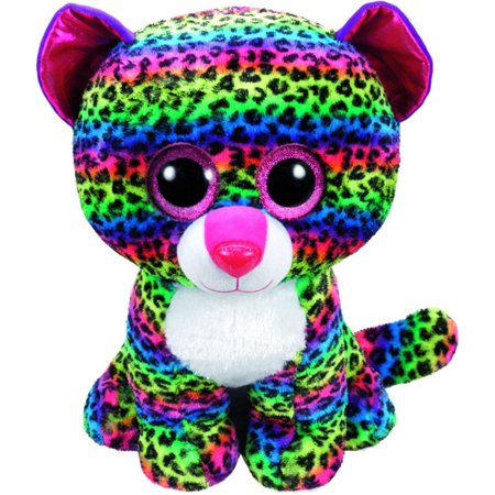 Beanie Boos DOT - multicolor leopard large Plush..., By Ty Ship from US](Ty Beanie Boos Large)