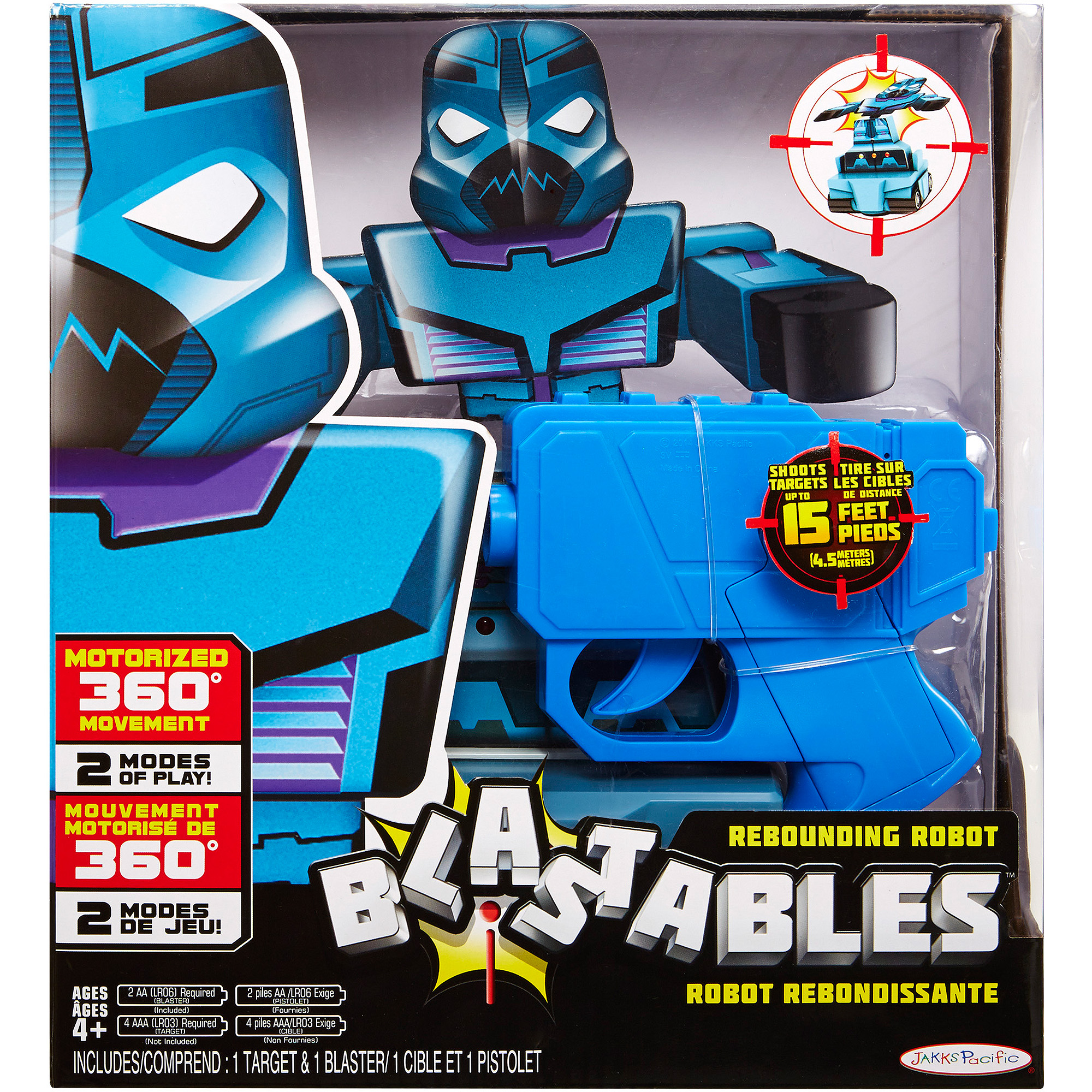 Blastables Bump N Blast Rebounding Target Robot Theme with Blue Blaster by Generic