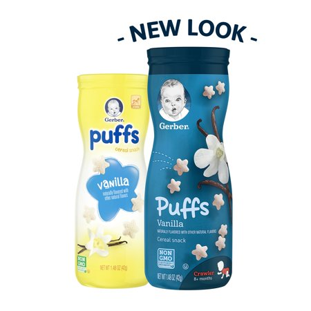 Gerber Graduates Puffs Vanilla Puffs Cereal Snack 1.48 oz. Canister