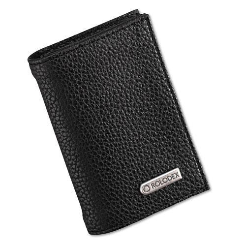 """Rolodex Low Profile Personal Card Case, 36-Card Capacity, 2-3/4"""" x 4"""", Black"""