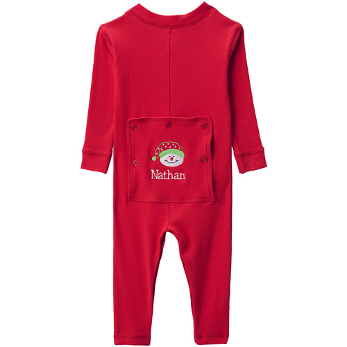 Personalized Infant Christmas Long John, Available in 3 Styles