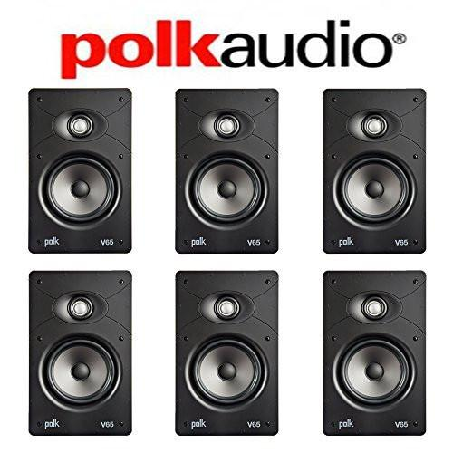 Polk Audio V65 High Performance Vanishing In-Wall Loudspeaker (6 Pack) by Polk Audio