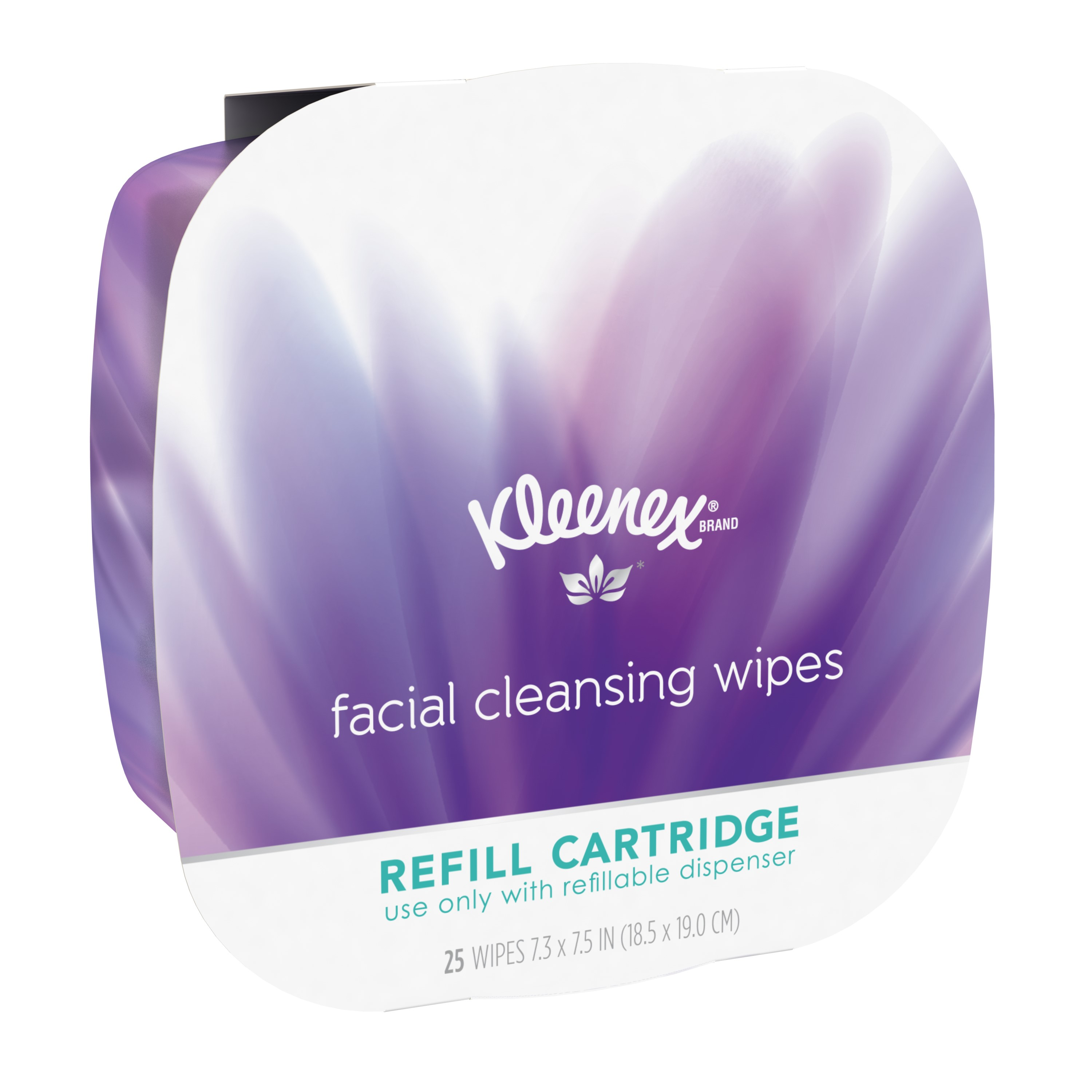 Kleenex Facial Cleansing Wipes Refill Cartridge, 25 Count
