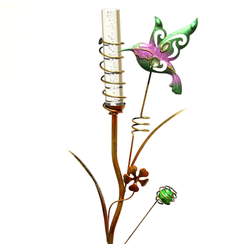 "Regal Art  and  Gift 10374 - 35"" x 10"" Hummingbird Stake (Color Changing) Solar LED Light"