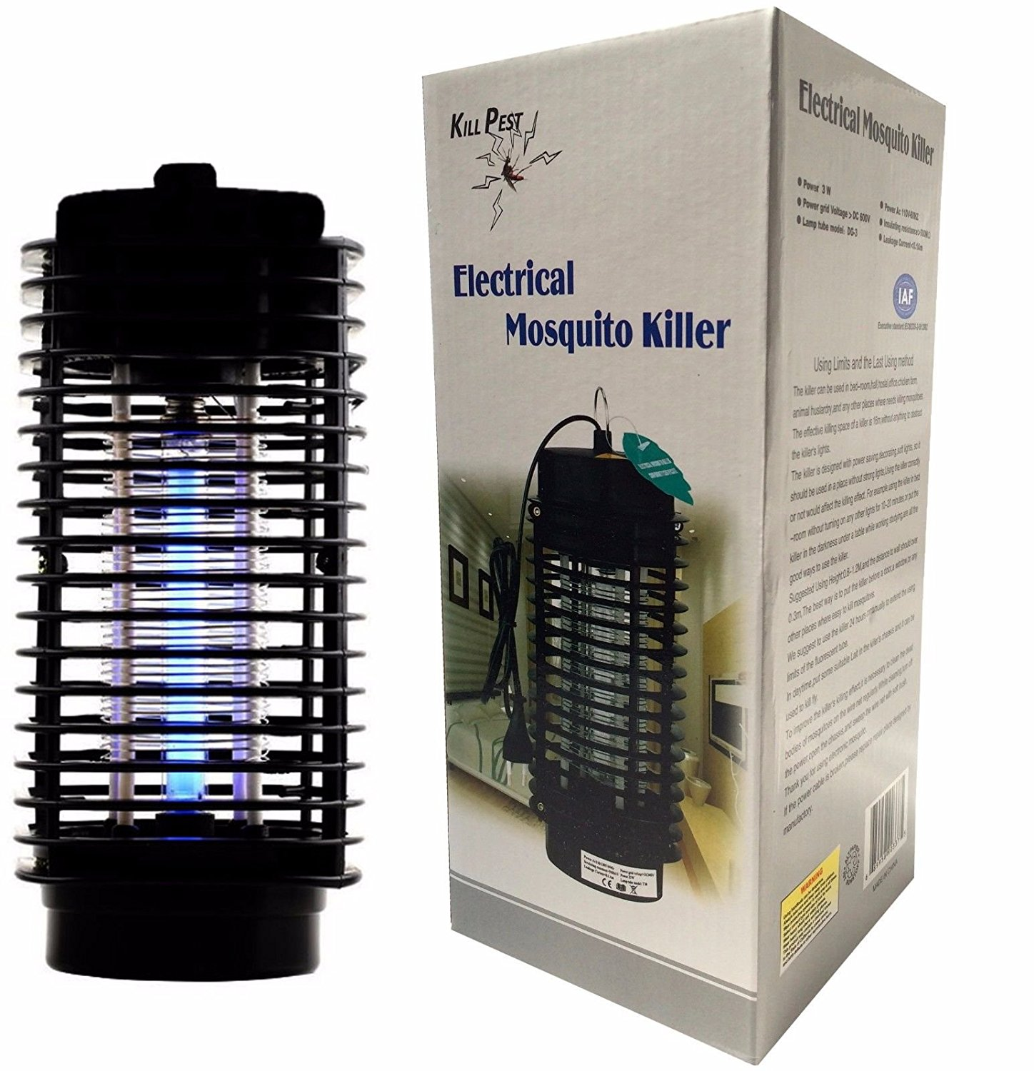 Electric Mosquito Killer Fly Bug Insect Zapper With Trap Lamp 110v Wiring Diagram Further On 60hz