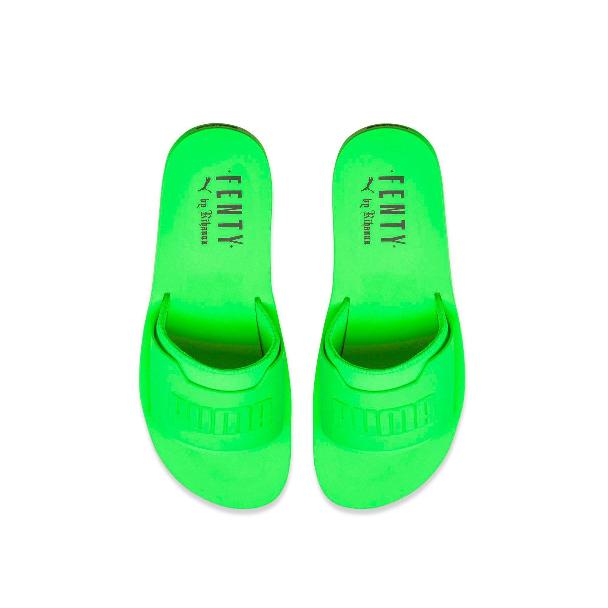 PUMA Womens Puma x Fenty By Rihanna Surf Slide Green Gecko 367747 04