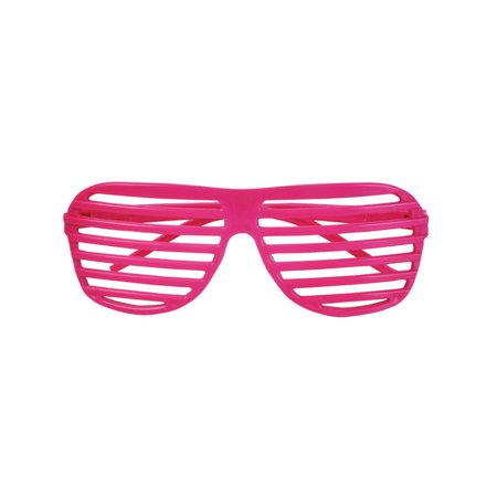 80's Neon Pink Shutter Shade Toy Sunglasses Party Favors Costume Accessory