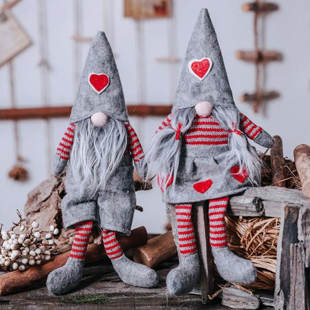 Handmade Swedish Christmas Santa Gnome Plush Doll Holiday Figurines Toy Xmas Home Ornaments ZEDWELL ()