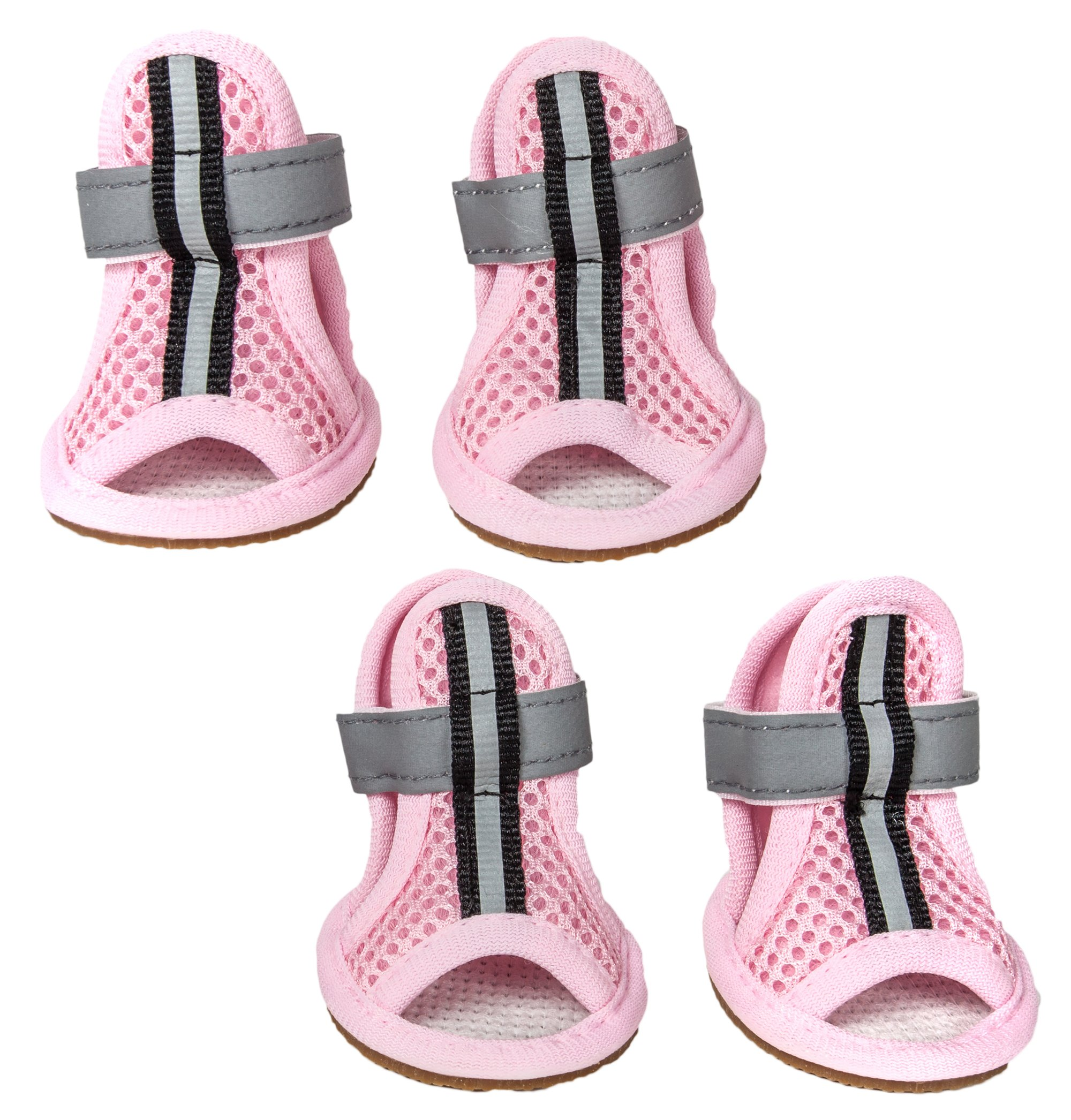 Sporty-Supportive Mesh Pet Sandals Shoes - Set Of 4